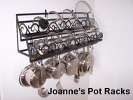Wall pot rack for lids & spice organizer from Joanne Black Texture