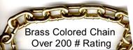 Brass colored chain