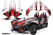 AMR Polaris Slingshot Graphics Kit - Carbon X Red