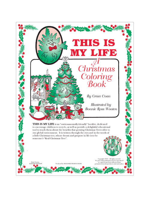 Christmas Edition 10 Coloring Book (CB-10)