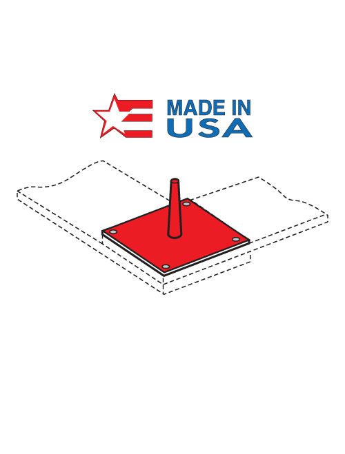Safety Red 4X4 Plate Pin (DP-305)