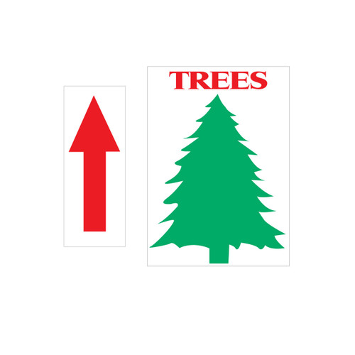 "12"" x 18"" Tree Directional Sign (JB-113)"