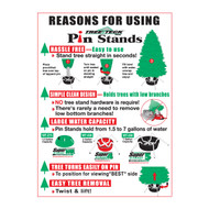 Reasons for Using Pin Stands Sign (JB-128)