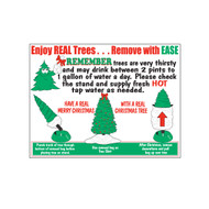 Christmas Tree Removal Bag Sign (JB-130)