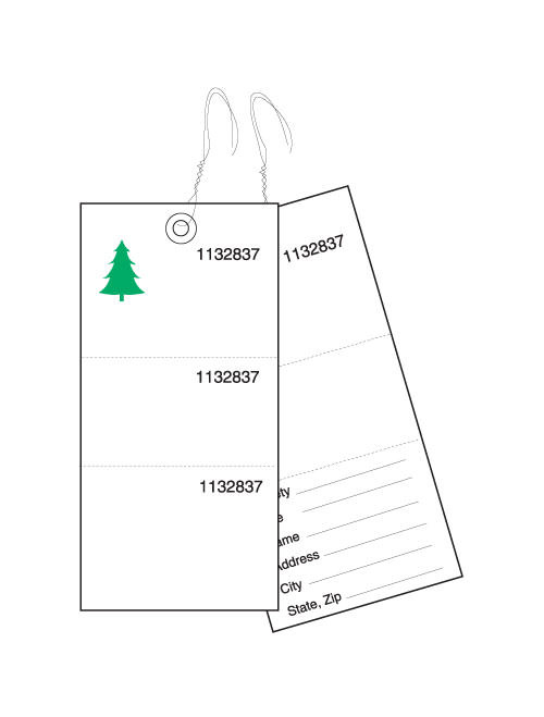 3-Part Weatherproof Tyvek Tree Tags (TT-703CS)