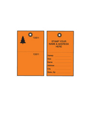 Orange Tyvek Tree Tags w/ Wire Ties - 100/PK (TT-500OW)