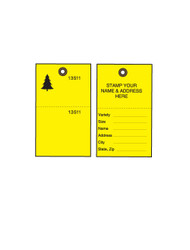 Yellow Tyvek Tree Tags w/ Wire Ties - 100/PK (TT-500YW)