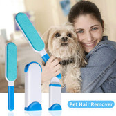 Fur Pet Hair & Lint Remover Cleaner Magic Cloth Fluff Fabric Brush Reusable