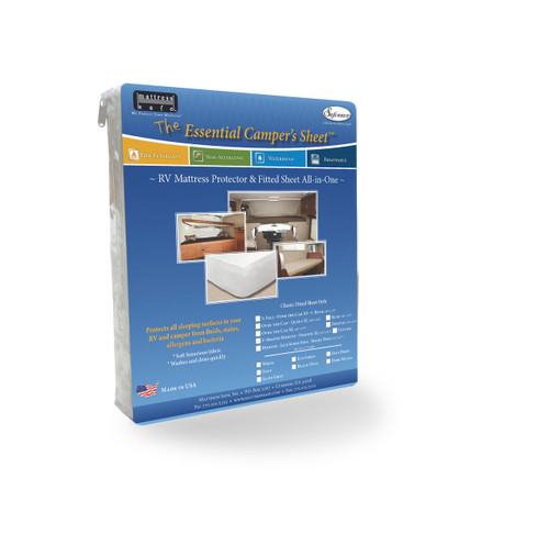 The Essential Camper's Sheet™ - Fitted Sheet and Mattress Protector All-In-One for Your RV and Camper