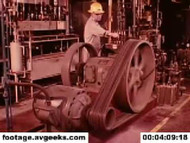 1970s stock footage - accident prevention through equipment guarding on DVD