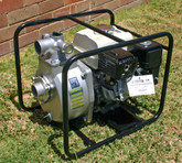 Honda GX160 5.5 hp Honda Engine & SERH-50F Koshin Single Impellor Pump in a steel roll frame - With Season Basic Fire Kit
