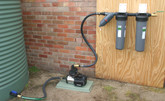 "Grundfos CMB-SP-3-56 with hoses and twin 20"" Maxflo filter with 40mm disk filter"