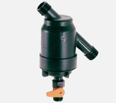 """Amiad 1"""" Super filter with 55 micron stainless steel screen and flush valve."""
