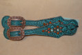 Heritage Brand Spur Straps Purple Gator Clear Crystals  #5