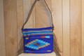 Fringed Cactus Saddle Blanket Purse Texas Sky Blue #1