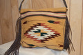 Fringed Cactus Saddle Blanket Purse Golden Hour #5