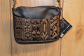 Western Leather Cell Phone Hip Bag Purse Tan Navajo #2