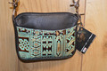 Western Leather Cell Phone Hip Bag Purse Turquoise Navajo  #4