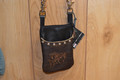 Western Cell Phone Hip Bag Holder Running Horses #7