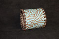 Leather Cuff Blue Embossed Leather #1