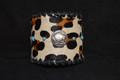 Western Cuff Leopard Cowhide Turquoise Spots #4