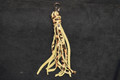 Western Cheetah Leather Tassels with Clip Zipper Pull or Purse