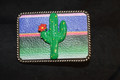 Serape Cactus Belt Buckle
