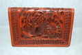 Western Business Card Holder Floral Tooled