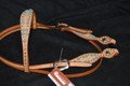 Dale Martin Antiqued Copper Spotted Western Headstall