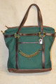 Green Hill Tote Bag English Curb Chain Green