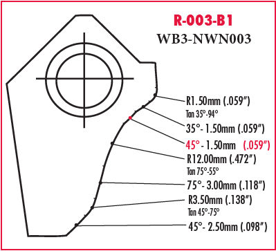 Neutral Cutting Profiling Insert N123L RO S05F L Seat 0.315 W