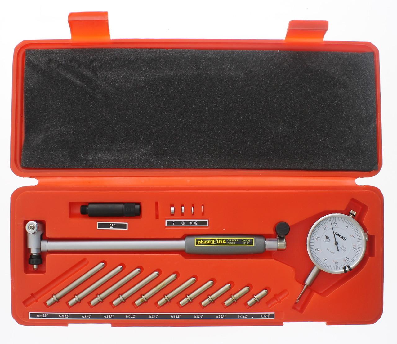 "6/"" .0005/"" Engine Cylinder Dial Bore Indicator Gauge Kit 2/"""