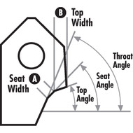 Carbide Tips for 3-Angle Seat Cutting Systems