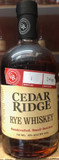 Cedar Ridge Rye Whiskey, Batch 1