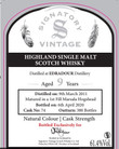 Edradour 9 Year Old, 2011, Whisky Shop Exclusive, by Signatory Vintage