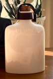 Drifter Ceramic Flask, White