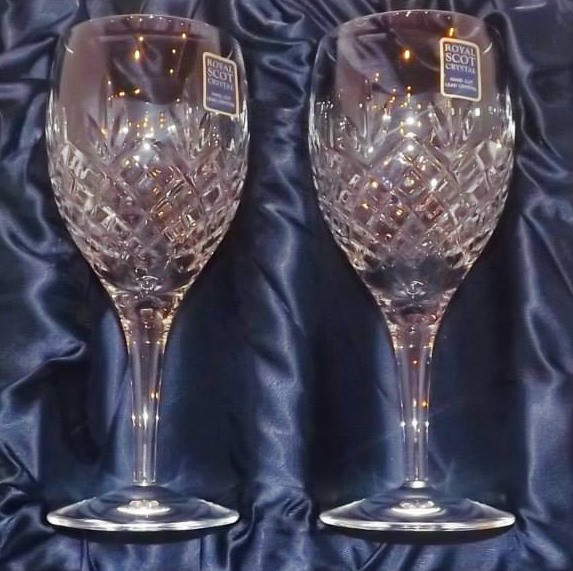 Royal Scot Hand Cut Crystal Wine Goblets The Whisky Shop