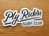 official surf club vinyl sticker - exterior grade  approximate measurements 13.5mm wide by 6mm high
