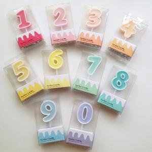 糖果色系數字蠟燭 (*此類產品必須購買本店食品方可一同選購,恕不獨立銷售。)