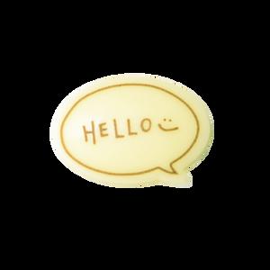對話框朱古力牌(Hello)