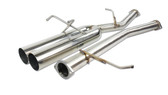 ISR Performance EP (Straight Pipes) Dual Tip Exhaust - Nissan 240sx 89-94 (S13) - 4""
