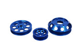 ISR Performance Light Weight Pulley Kit - Blue -  SR20DET S13