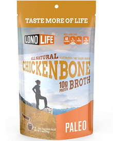 LonoLife Chicken Bone Broth, 100% Paleo Certified 10g Protein (Stick Pack), 10 Count