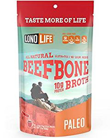 LonoLife Beef Bone Broth, 100% Paleo Certified 10g Protein (Stick Pack), 10 Count