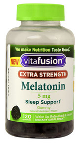 Vitafusion Extra Strength Melatonin Natural Blackberry -- 5 mg - 120 Gummies