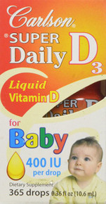 Daily D3 for Baby 400IU Supplement, 0.35 Fluid Ounce