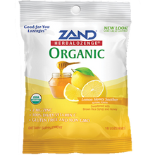 Zand HerbaLozenge® Zinc Lemon Honey Soother Lozenge, Organic