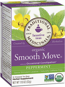 Traditional Medicinals Organic Smooth Move® Herbal Tea Peppermint -- 16 Tea Bags