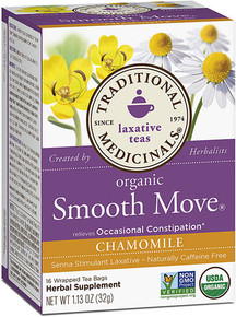 Traditional Medicinals Organic Smooth Move® Herbal Tea Chamomile -- 16 Tea Bags