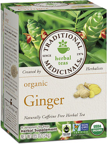 Traditional Medicinals Herbal Tea Organic Ginger -- 16 Tea Bags